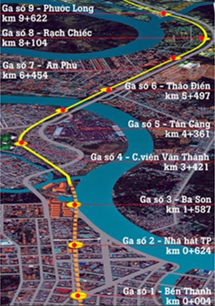 Vinhomes Central Park Tân Cảng liền kề ngay nhà ga số 5 tuyến metro bến thành - suối tiên
