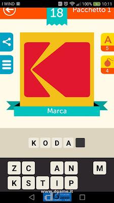 Iconica Italia Pop Logo Quiz soluzione pacchetto 1 livelli 18-25