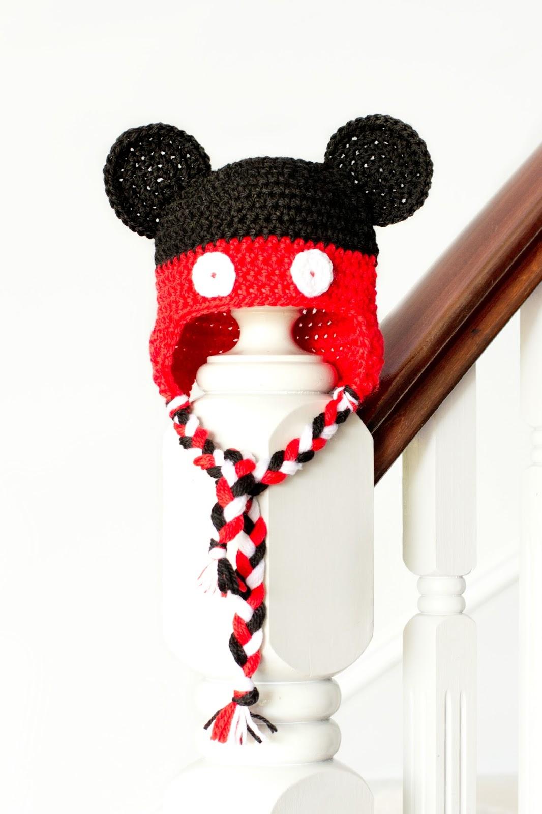 Bonnet Mickey au crochet - Modèle gratuit