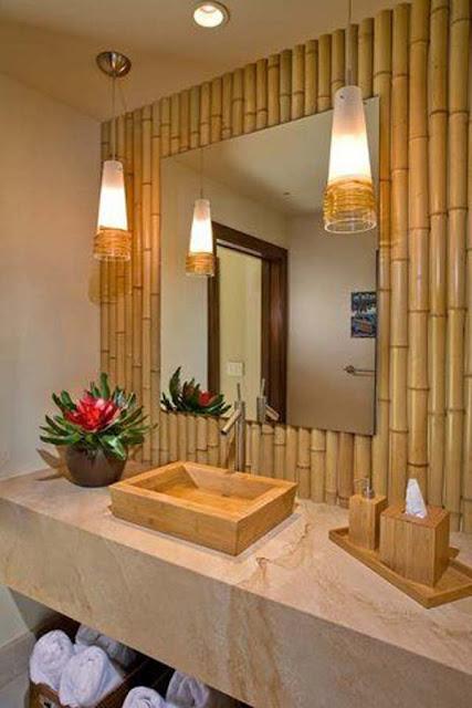 Dinding dari bambu