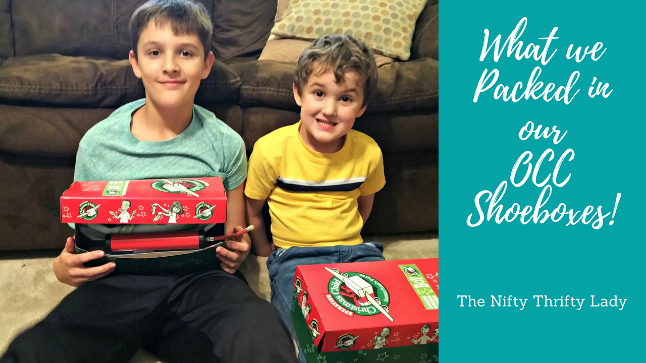 Operation Christmas Child Labels 2019.The Nifty Thrifty Lady Packing An Operation Christmas Child