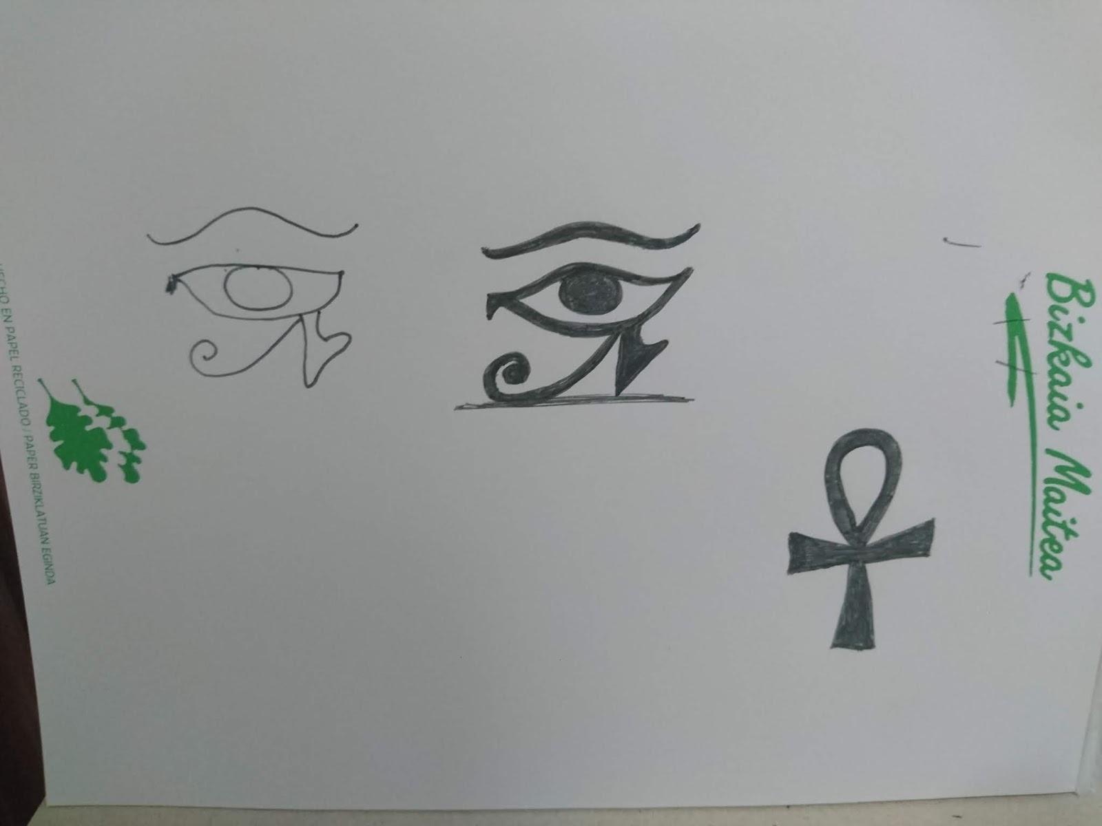 Trazando los símbolos egipcios