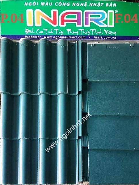 Ngói lợp màu xanh rêu