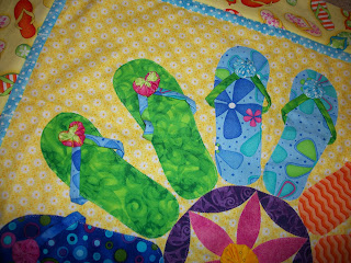 How To Hand Quilt Summer Is For Flip Flops Quilt