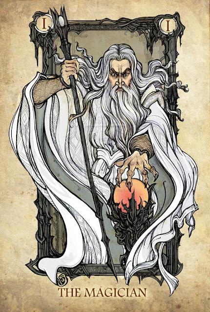 Senhor dos anéis em cartas de tarô - O Mágico