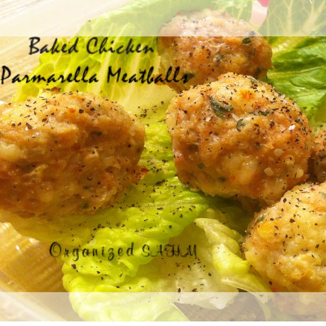 Baked Chicken Parmarella Meatball Salad
