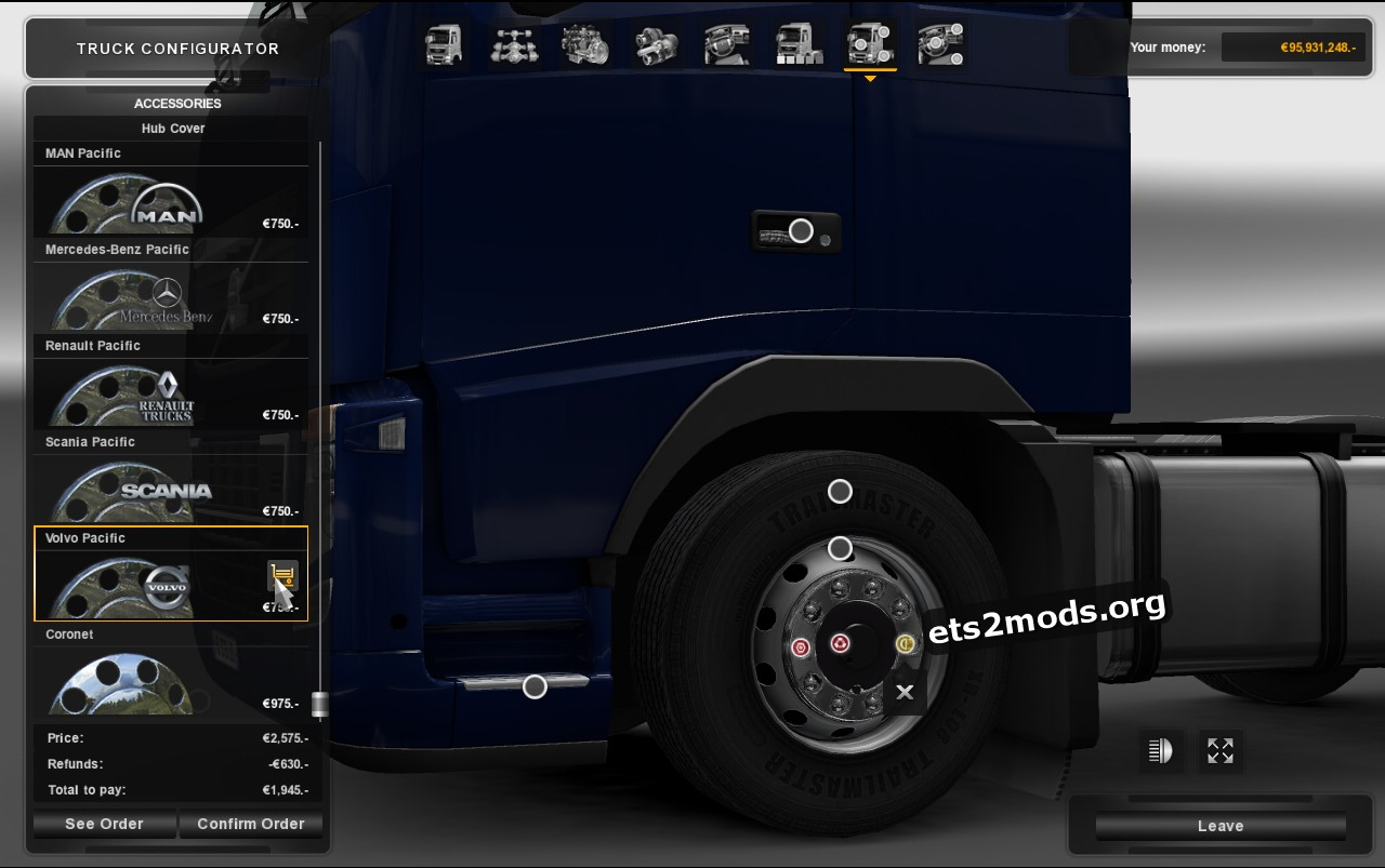 Hub Reduction Axle Cap V 2.4