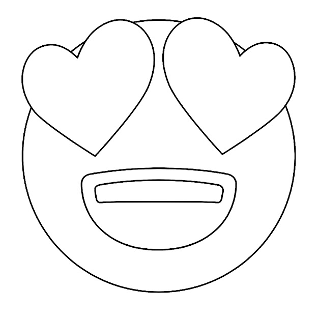 Heart Eyes Emoji Coloring Pages