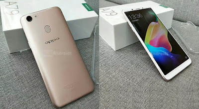 Spesifikasi Oppo A79        Kamera menjadi salah satu bagian yang menarik dari Oppo A79. Hmmm, sebenarnya setiap smartphone Oppo memang mengunggulkan bagian kameranya guys. Oppo A79 ini mengandalkan kamera utama beresolusi 16 MP yang dilengkapi dengan fitur penunjang Autofocus dan LED Flash. Semenetara untuk menunjang selfie terdapat kamera 16 MP + Fitur AI Beauthy Recognition seperti pada Oppo F5.     Untuk softwarenya, Oppo A79 mengandalkan Color OS 3.0 dengan OS Android v 7.0 Nougat yang tentunya kombinasi keduanya mampu hasilkan performa yang responsif. Fitur keamanan data juga terbilang komplit dengan fingerprint sensor serta Face Recognition. Untuk koneksi internetnya tentunya sudah mendukung 4G LTE.   Kinerja dari Oppo A79 ini jelas akan sangat baik dikelasnya dengan mengandalkan prosesor Mediatek MT6763T Octa Core, berkecepatan 2.3 GHz + GPU Mali G71 – MP2 serta RAM 4 GB. Ruang penyimpanan internal 32 GB yang cukup lega dan bisa ditambah dengan slot microSD hingga 256 GB. Sedangkan baterainya sendiri memiliki kapasitas 2900 mAh.  Kelebihan   Tampil manis dengan mengusung desain bodi seluruhnya terbuat metal.  Jaringan 4G LTE membuat akses internet terasa sangat ringan dan lancar.  Layar 6.0 AMOLED resolusi Full HD+ 1080 x 2160 pixels dapat menampilkan akurasi gambar jernih dan detail.