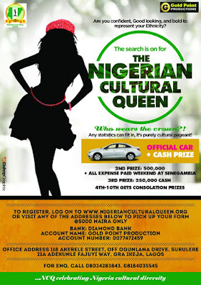 Nigerian Cultural Queen 2016: Become Naija's Next Cultural Icon