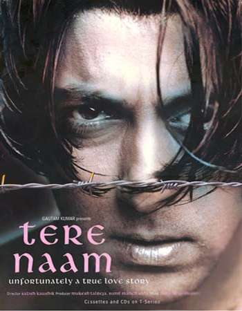 Poster Of Tere Naam 2003 Hindi 450MB BRRip 720p ESubs HEVC Watch Online Free Download Worldfree4u