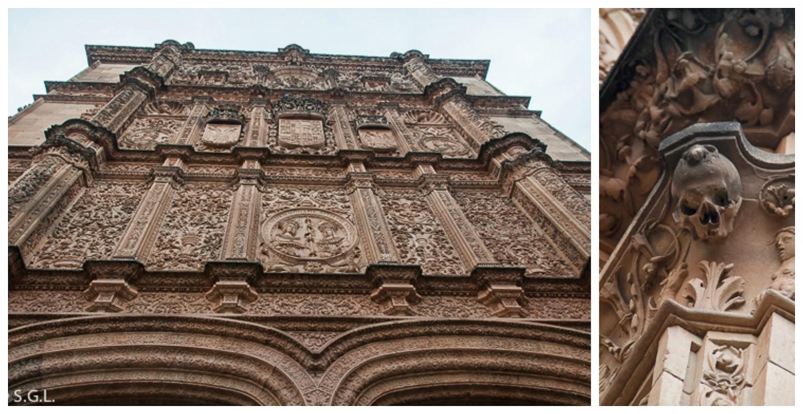 Fachada universidad de Salamanca y la rana