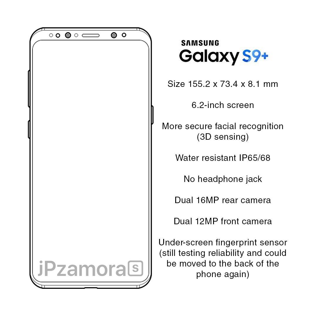 New Galaxy S9 leaks: no headphone jack?