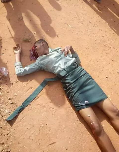 Graphic Photos: Young girl killed by commercial bus on her way to school in Anambra