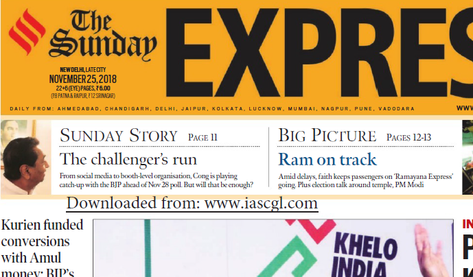 The Indian Express ePaper Download 25th November 2018
