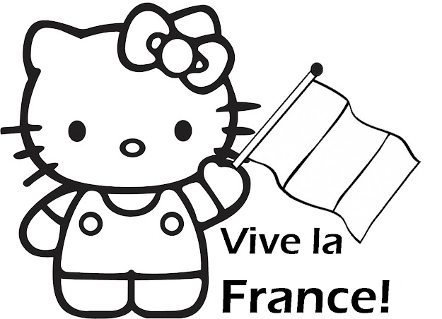 Vive La France Coloriage  Hello Kitty