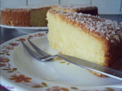 Sinaasappelkokos cake met kokosmelk