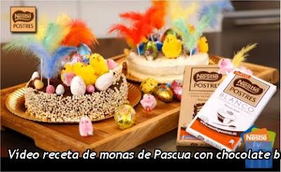 Vídeo receta de monas de Pascua con chocolate blanco y negro