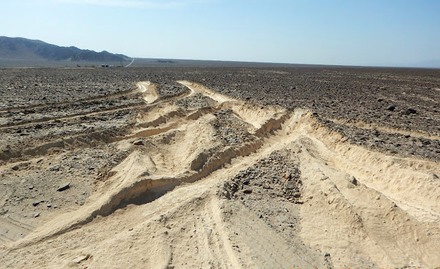 Truck driver ploughs through Peru's ancient Nazca lines