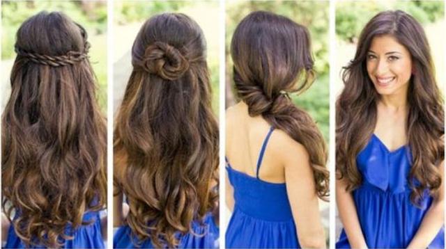 Gaya rambut Cute untuk yang memiliki rambut panjang