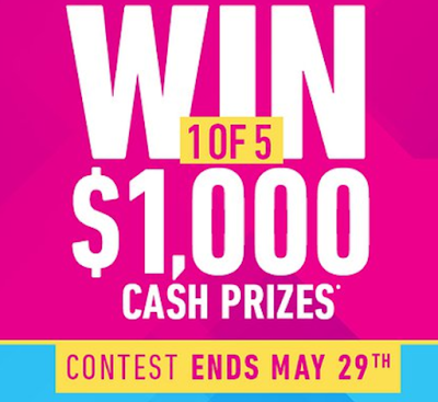 You Can WIN 1 of 5 $1000 CASH PRIZES!