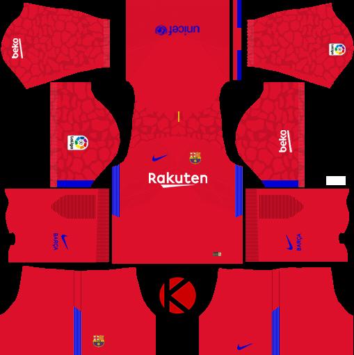 3ffe44fbacd barcelona nike kits 2017 2018 league soccer - Kit Baju Barcelona Dls 2018