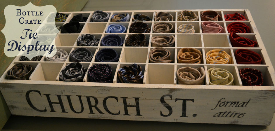 The bottle crate, Ways to organize ties