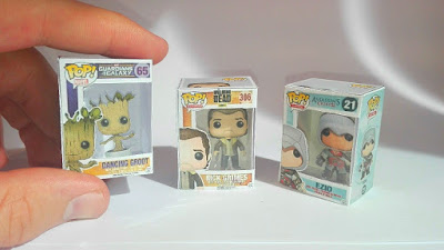 Mini Funko Pop - Papercraft miniature Funko Pop
