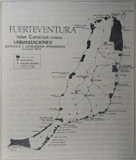 Zonas turísticas aprobadas en Fuerteventura (1973)