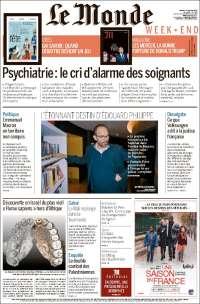Tapas de diarios de francia el día después de macri: no está