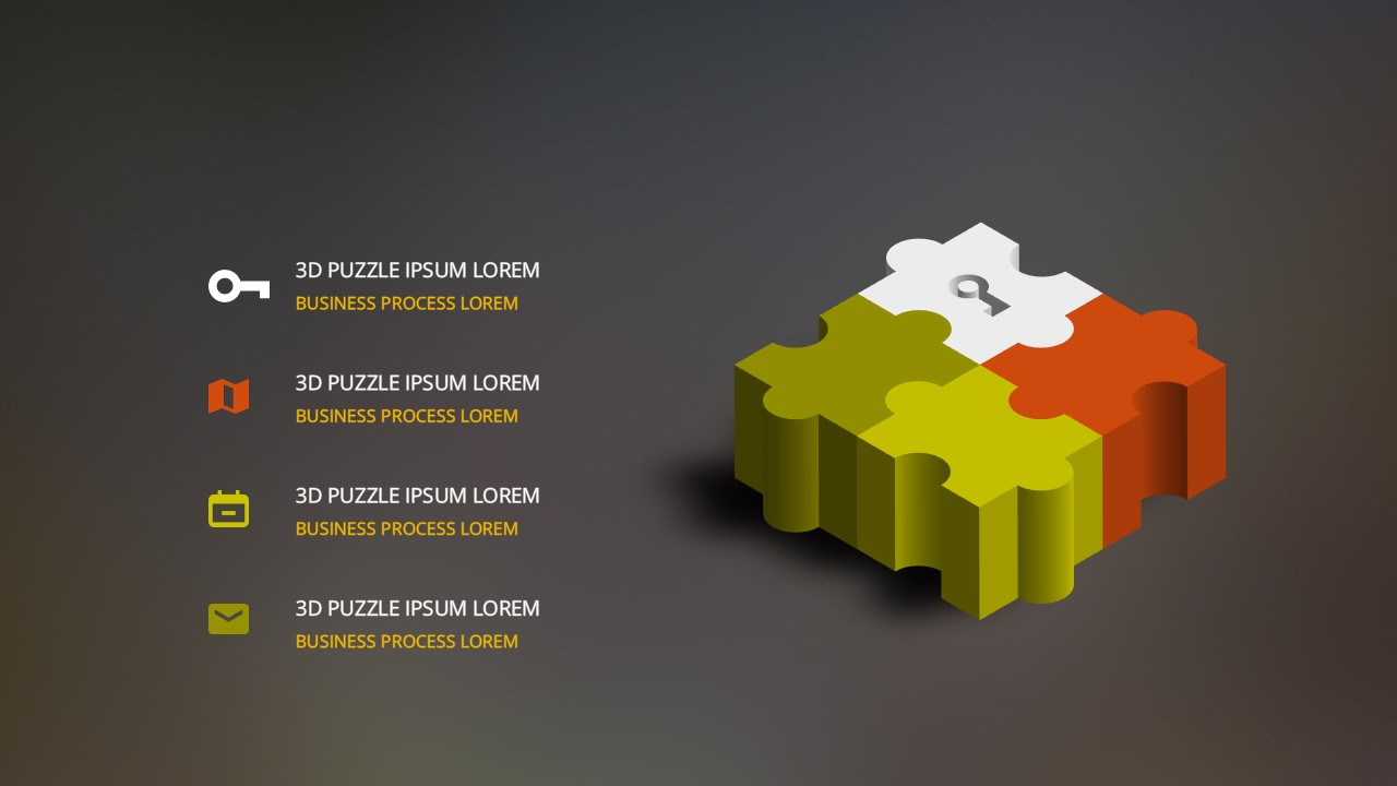 Free Powerpoint Templates with 3D Puzzle Pieces Diagram ...