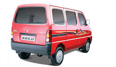maruti suzuki eeco 7 seater & 5 seater vehicle.rear view