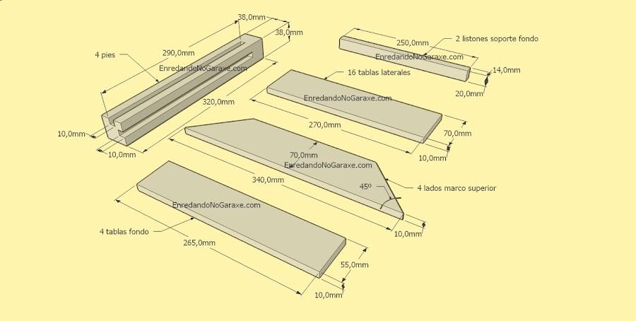 Planos macetero hecho con madera de palet, enredandonogaraxe.com