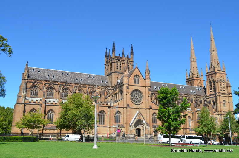 St Mary's Cathedral opp Hyde Park, Sydney - eNidhi India ...