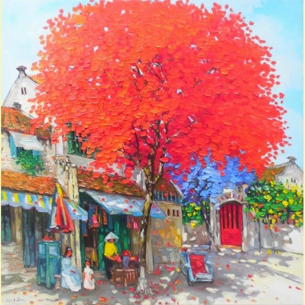 Esquina da Rua - Pinturas do vietnamita Lam Duc Manh