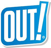 OUT! Logo