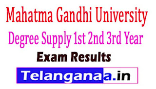 MGU Degree Supply 1st 2nd 3rd Year Revaluation / Recounting  Results 2017
