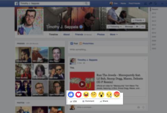 """Fitur Facebook Reaction, pengganti Fitur """"unlike Button"""" ini sudah dirilis di Spanyol dan Irlandia"""