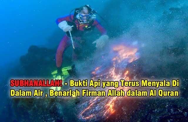 MasyaAllah! Laut ini menyemburkan api dari dalam tanahnya! Jangan terkejut!