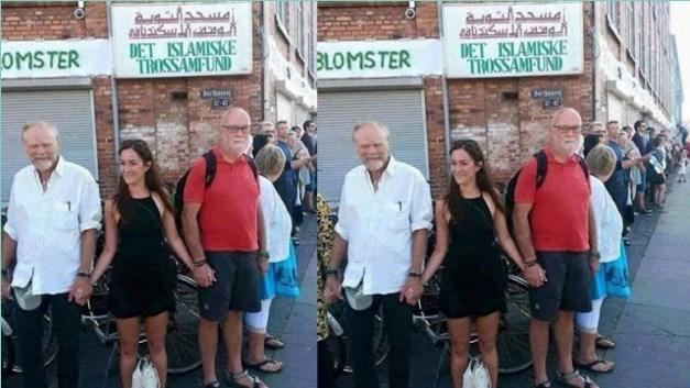 Subhanallah... Warga Denmark Berbaris Melindungi Masjid Dari Penyerangan