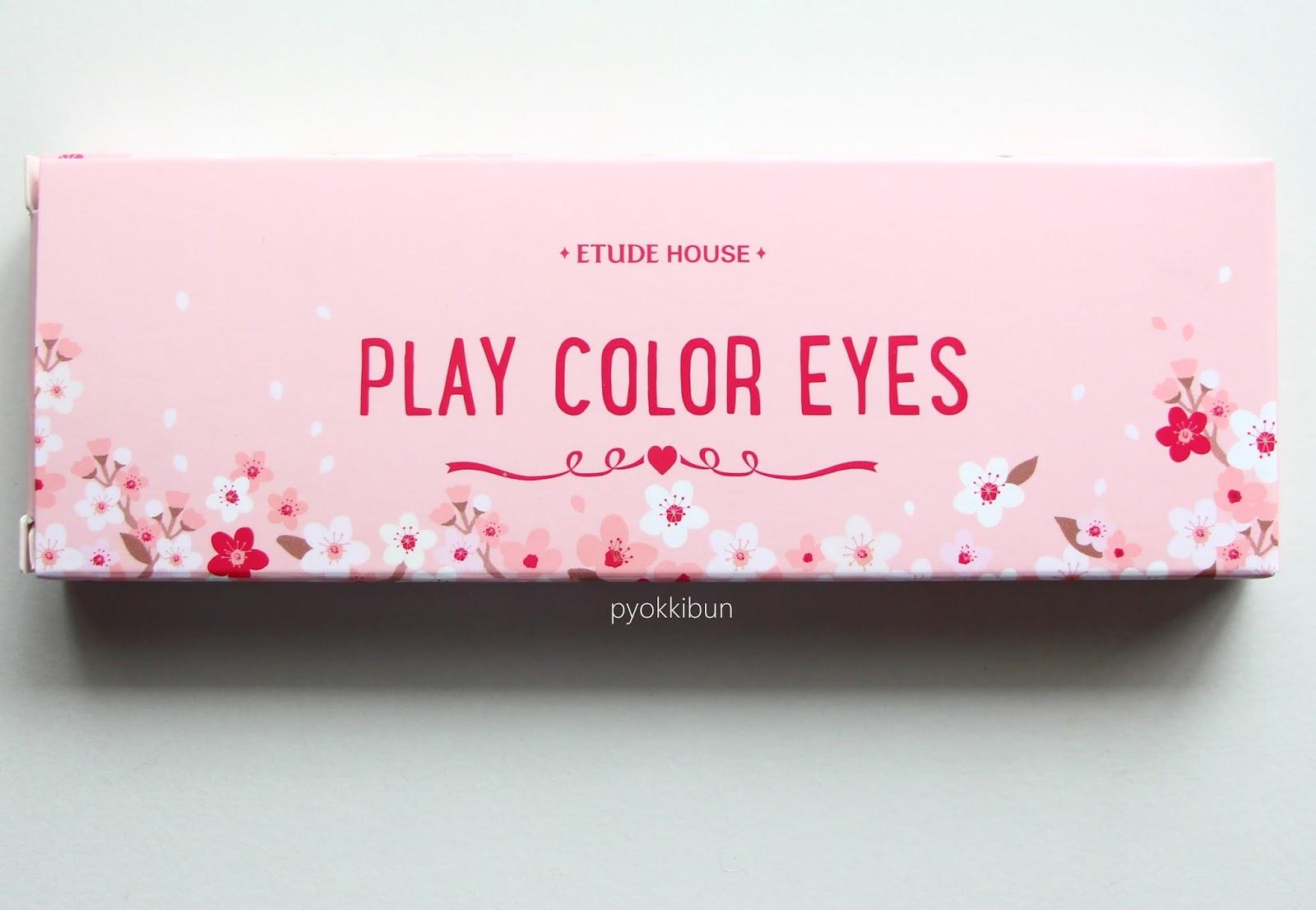 Etude House Play Colour Eyes in Cherry Blossom review - ♥ Pyokkibun ♥