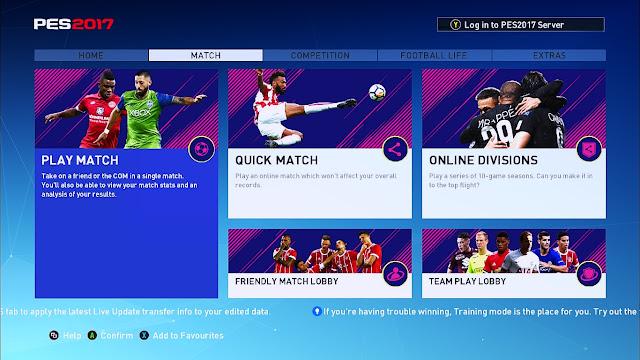 PES 2017 Graphic Menu Style FIFA 18