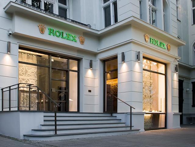 Loja da Rolex na Friedrichstrasse em Berlim