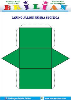 Gambar jaring-jaring bangun prisma segitiga