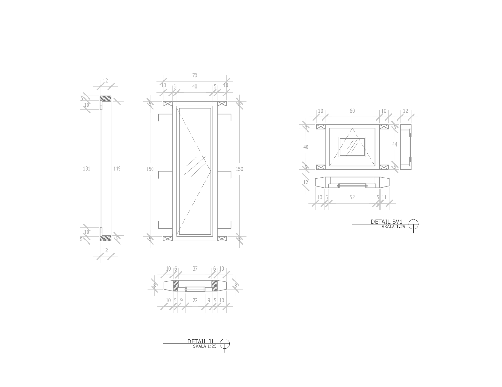 contoh gambar kerja lengkap rumah 1 lantai minimalis di