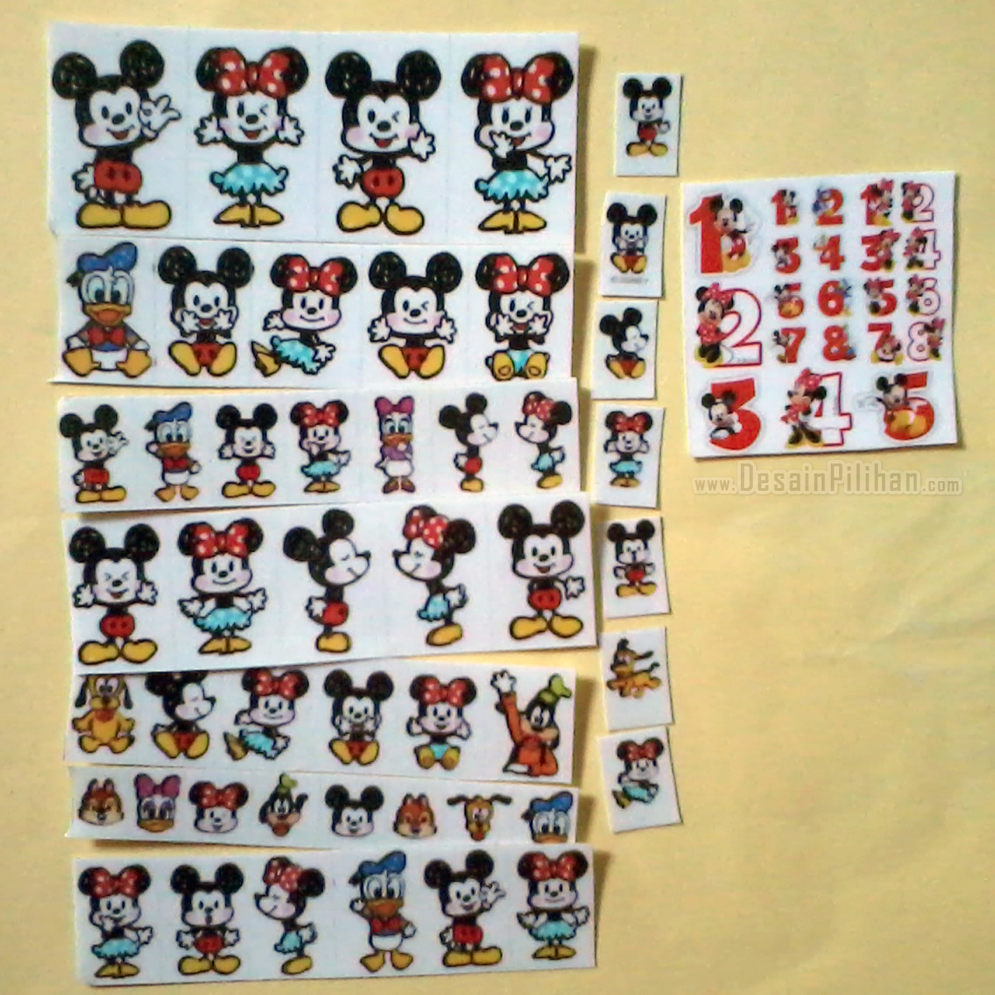 CUTTING STICKER TRANSPARAN CUSTOM, CUTTING STICKER MICKEY MOUSE, STICKER MINNIE MOUSE