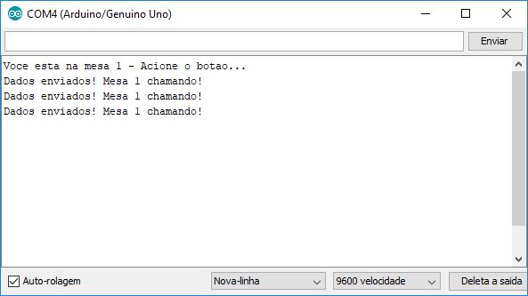 Serial Monitor Arduino - Emissor