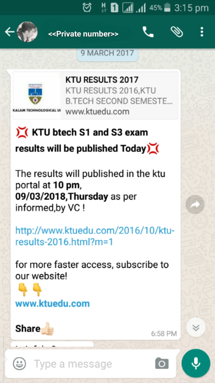 By Some Other Ktu Oriented Website Avoid Such Message , They Only  Trying To Increase Their Visitors And Earn More Money By Viewing Ads On  That Website
