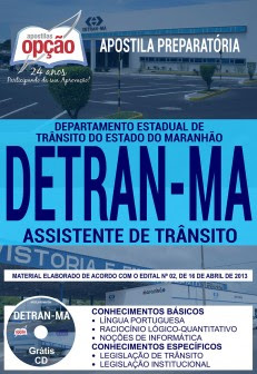 Apostila preparatória DETRAN-MA 2018 Assistente de Trânsito