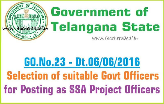 TS SSA,Project Officers,Recruitment Guidelines,GO.23